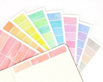 Blank Watercolor Functional Header Sticker Divider To Do Tasks Reminders For Planners and Bullet Journals APP15