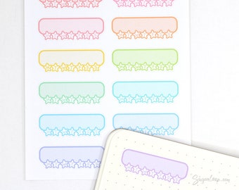 Weekly Habit Tracker Planner Stickers, 12 Cute Kawaii Style Habit Tracker Stickers to Stay on Track with Goals, Health, Fitness etc WHT12