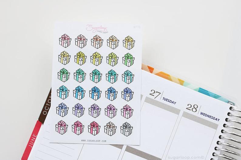 30 Susse Kleine Geschenk Geschenk Sticker Von Hand Etsy