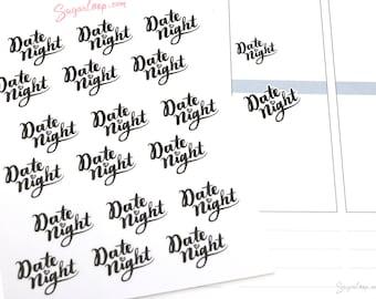 Date Night Script Planner Stickers in Black, RMD2