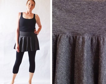 Yoga skirt Womens Mini Skirt Full Circle short Skirt stretch Cotton Jersey Swimsuit coverup Handmade Ellaina Boutique - made to order