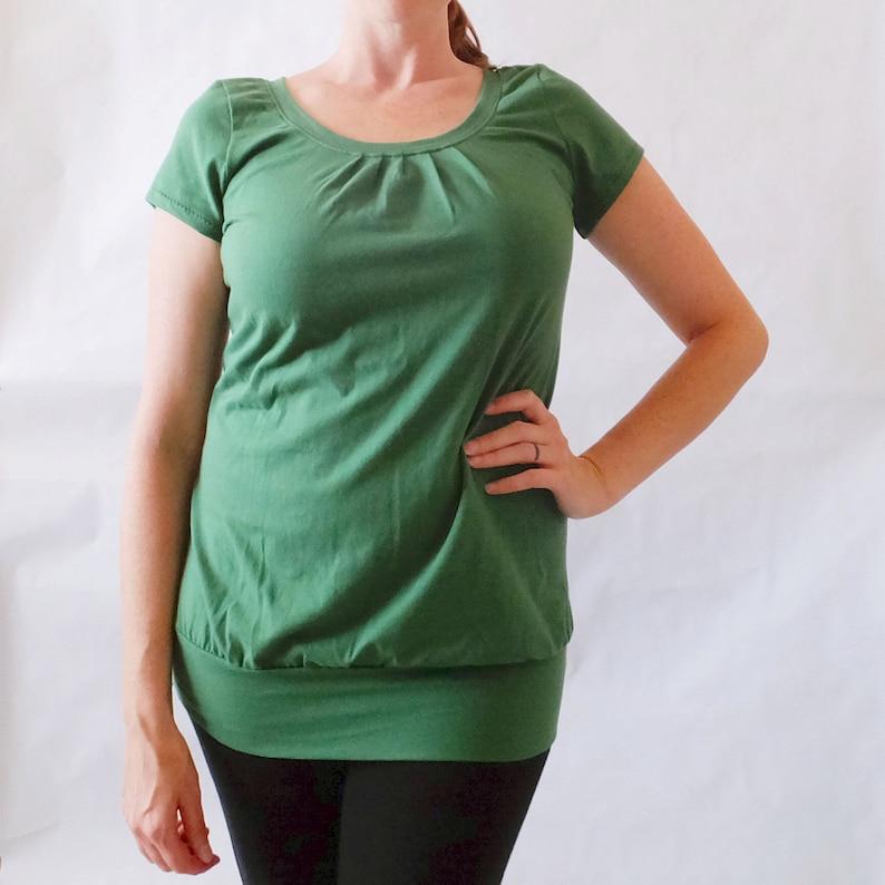 0644ba4420b Emerald short sleeve Shirt cotton blouse jersey knit tee