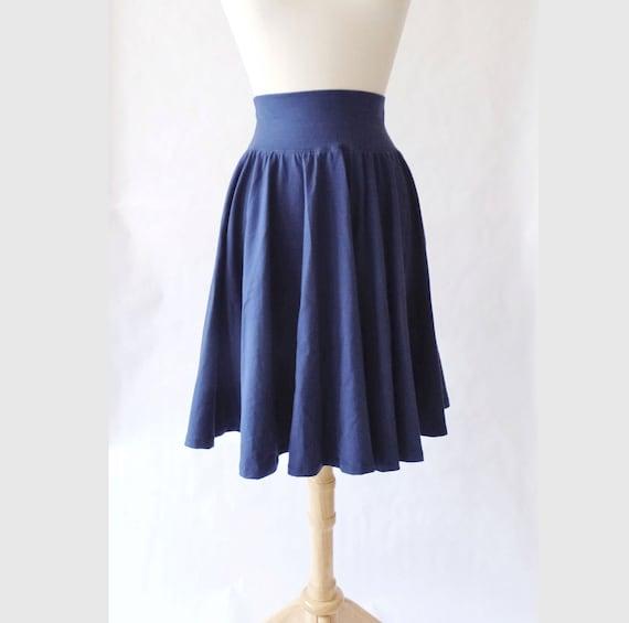 Full Circle Skirt Womens stretch Cotton Jersey Swing Skirt knee length twirl skirt summer skirt stretch cotton skirt custom made to order