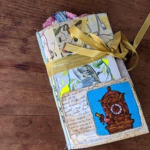 Bundle Cork Fabric Writing Journal and Hand Dyed Yarn