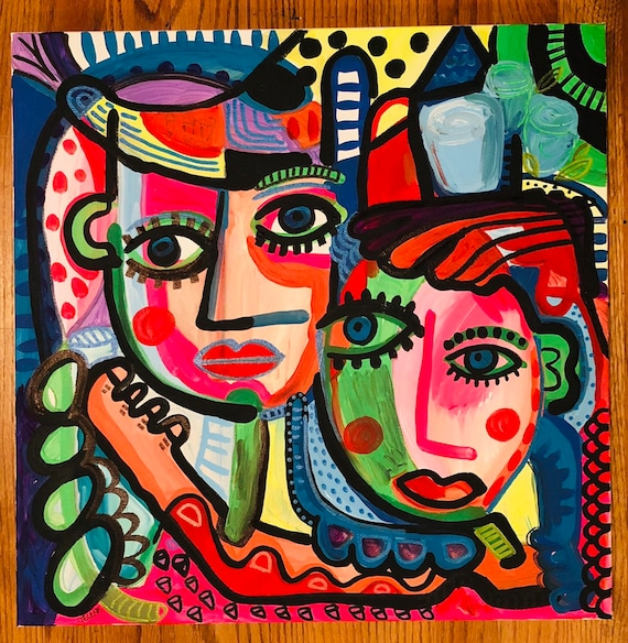 Details about  /Image on canvas-paintings woman face eyes mystery 30 forms fr 2184 show original title