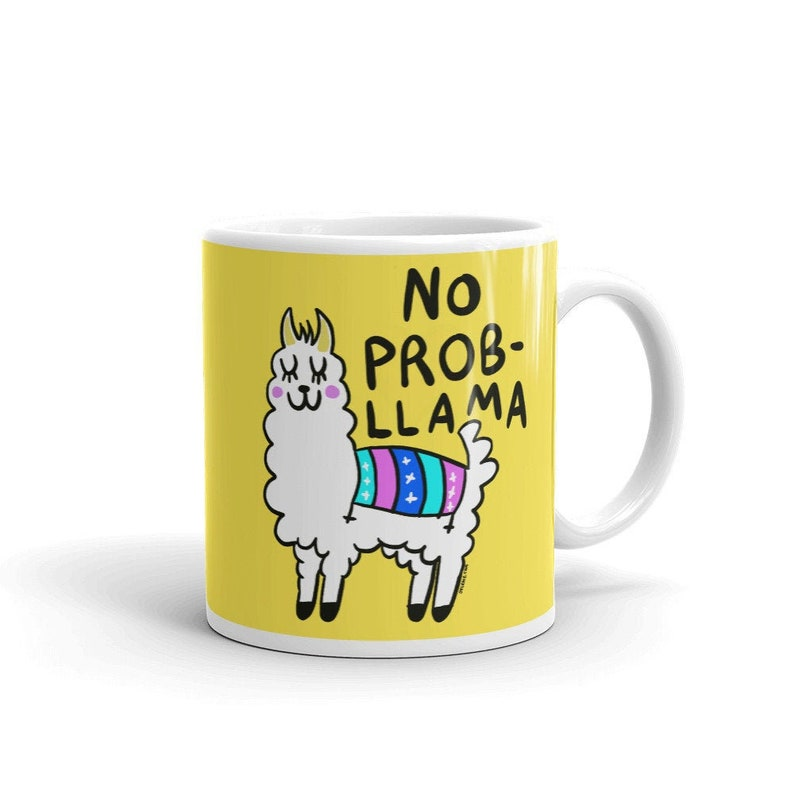 No Prob Llama Original Design by Jelene  Ceramic Coffee Mug  image 0
