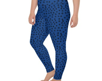 Plus Size Women's Funky Circle Design All-Over Print Plus Size Leggings