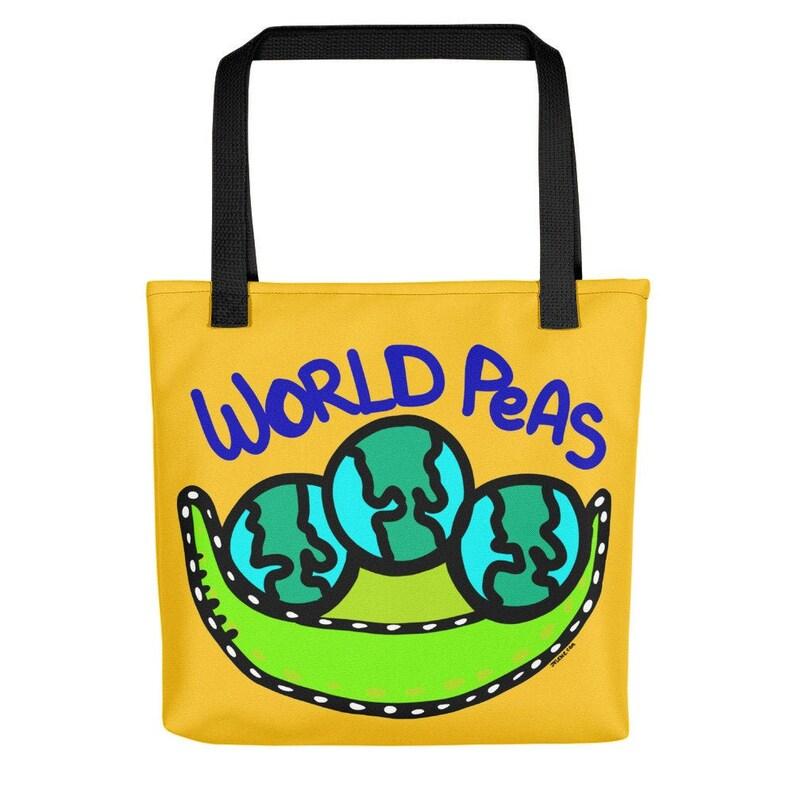 World Peas Original Design by Jelene  15x15 Tote image 0