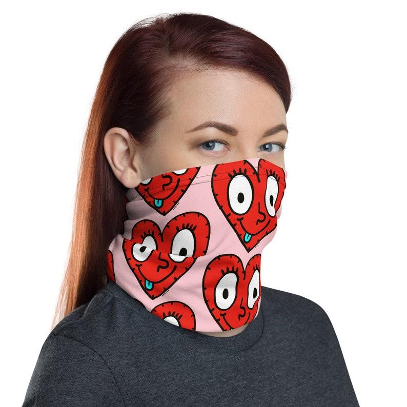 Funky Heart by Jelene  Face Mask Face Covering Bandana image 0