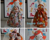 Trixie and Tess A Topsy Turvy Doll - PDF Sewing Pattern With Step-By-Step Photos