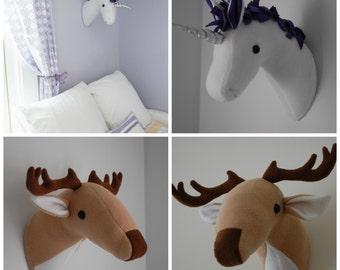 elephant and giraffe plush taxidermy pdf sewing pattern etsy