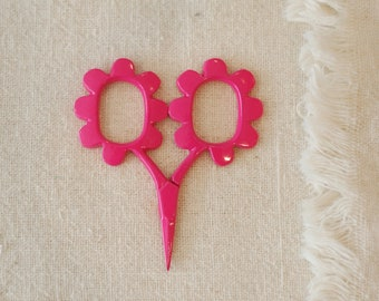Pink Flower Scissors for Sewing, Embroidery, or Scrapbooking - Unique Gift