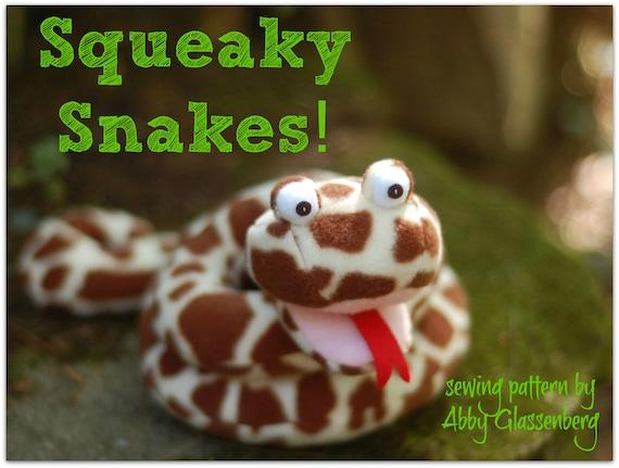 Quietschende Schlangen PDF-Schnittmuster 3 Designs in einem | Etsy