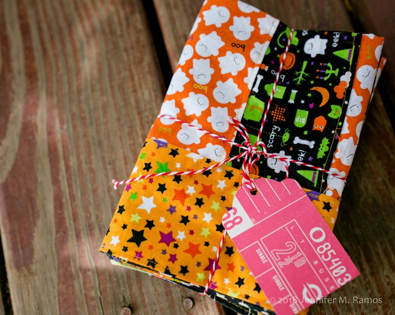 Set of Four HALLOWEEN Themed Patchwork Cloth napkins image 0