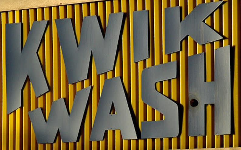 Kwik Wash matted 5x7 Urban Decay Fine Art Print image 0