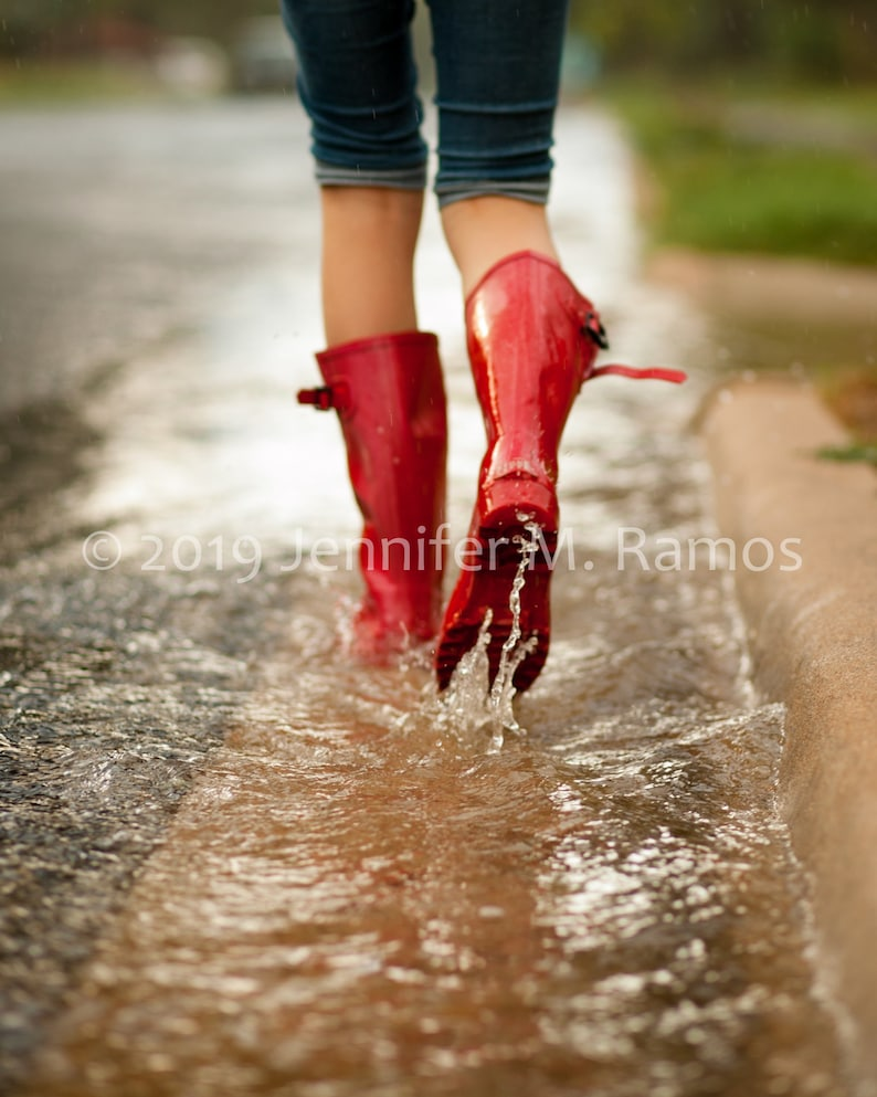Red Rain Boots 8x10 Photographic Print image 0