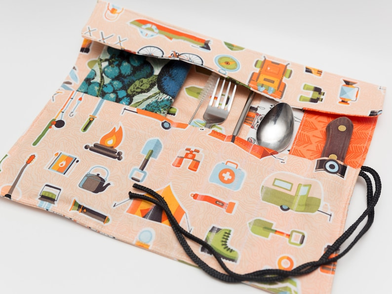 Camping themed Utensil Roll image 0