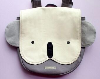 KOALA Backpack - Cute Animal Rucksack - Kawaii Bear Harajuku Bag - Kawaii Vegan Bag Harajuku Women Kids Backpack Small Fabric Cosplay Kitsch