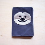 Funny SLOTH Passport Cover - Cute Passport Sleeve - Vegan Passport Case - Fabric Notebook Sleeve Cover - Travel Accessories Gifts