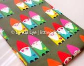 Gnomes Cotton Print FAT QUARTER Fabric, Cute Quilting Cloth Children Textile - Dwarf Swedish Santa Elf Christmas Nordic Tomten Tomtar Nisse