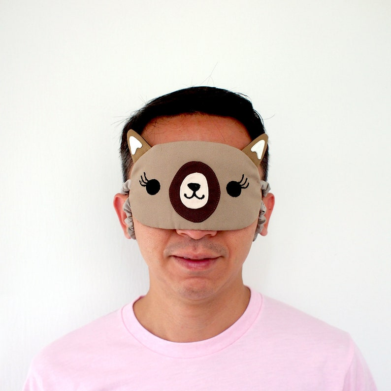 ALPACA Sleep Mask - LLAMA Eye Cover - Cute Animal Eyemask - Kawaii  Blindfold - Padded Sleeping Mask Travel Flight Mask Fun Party Gifts
