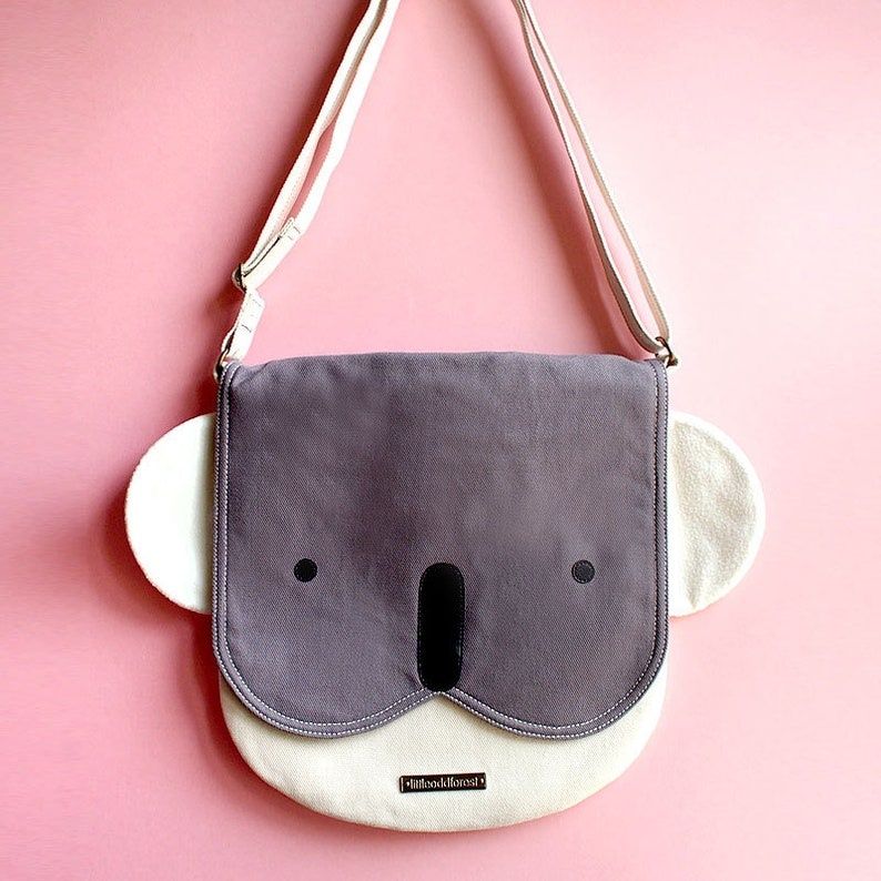 18aef9301323 Cute Koala Crossbody Bag Wombat Vegan Cross Body Purse Animal
