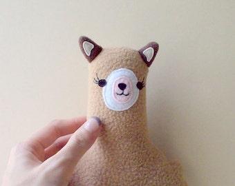 Stuffed Alpaca Toy - Cute Llama Plushie - Sheep Soft Plush Toy - Funny Animal Softie - Kids Room Cushion Nature Nursery Decor Toddler Gifts