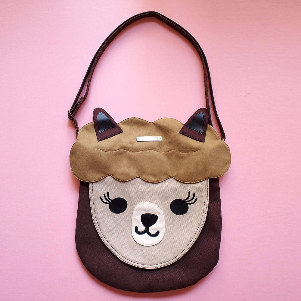 cc81aaeeddd9 Llama Crossbody Bag Alpaca Cute Animal Cross Body Vegan Purse