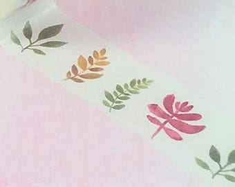 Delicate Leaves Washi Tape with Presentation Box - Multicolor Leaves Decorative Tape for Scrapbooking, Planners and Journals