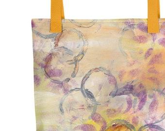 Mixed Media Art Tote Bag - Julia's Tote