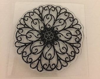 Clear mini cling rubber stamp