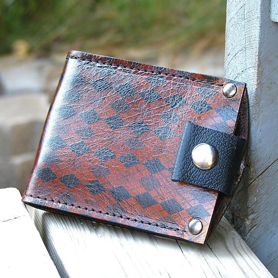 Mans portefeuille marron en cuir porte-monnaie pliante   Etsy 4ca195e80f8