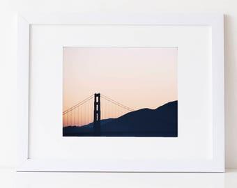 San Francisco Photography Golden Gate Bridge Print San Francisco Print, Golden Gate Bridge Photography, California, San Francisco Wall Art
