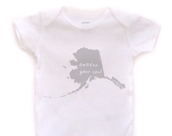 cute baby Onesie®, alaska baby clothing, alaska baby gift, alaska love, alaska shower gift, baby neutral, cute baby gift,