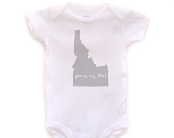 cute baby Onesie®, idaho baby clothing, idaho baby gift, idaho love, idaho shower gift, baby neutral, cute baby gift,