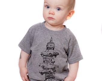 kids car kabob shirt, berwyn tshirt, graphic t, state pride, kids fashion t, screen print, silkscreen, free shipping