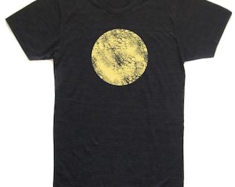 unisex moon t-shirt, moon tee, the moon, night sky, astronomy tee, moon lover, nighttime tee, cool men's gift, printed dude tee, rad tee,