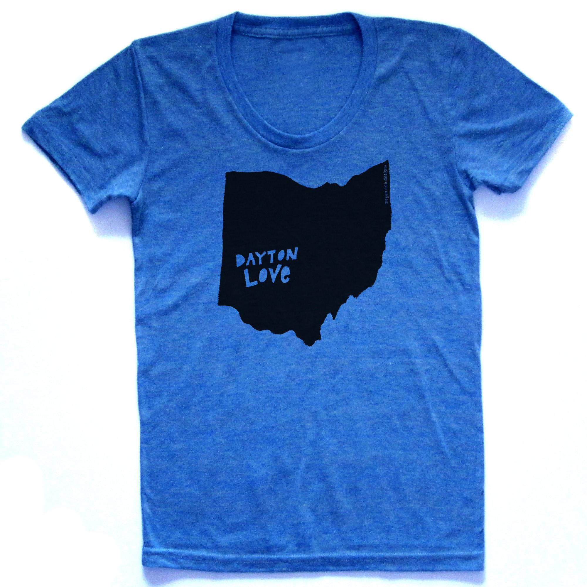 Dayton Ohio Shirt Dayton Love Tshirt Graphic T State Pride Etsy