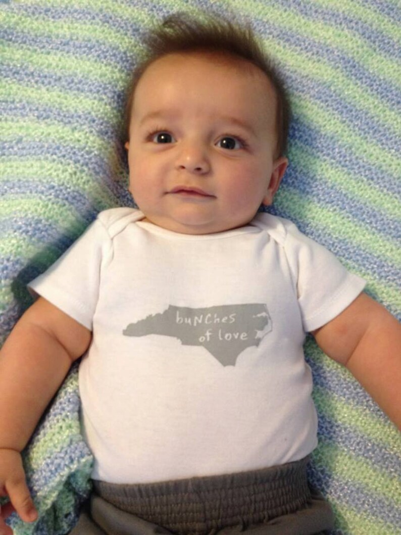 north carolina baby clothing cute baby gift, north carolina shower gift north carolina baby gift cute baby Onesie\u00ae baby neutral
