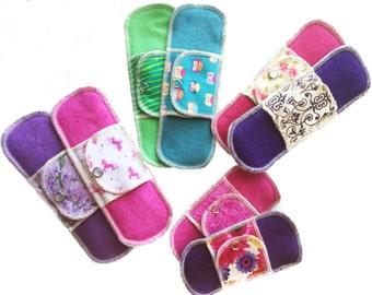 Organic New Moon Menarche Collection Moonpads Reusable Washable Cotton Cloth Menstrual Pads