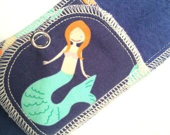 Organic Pantyliner Moonpads Reusable Cotton Fabric Flannel Cloth Menstrual Pads - Mermaid