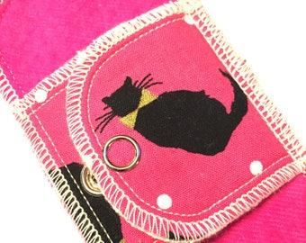 Organic Daypad Moonpads Reusable Cotton Flannel Fabric Cloth Menstrual Pads - MEOW- Cat Print Flaps