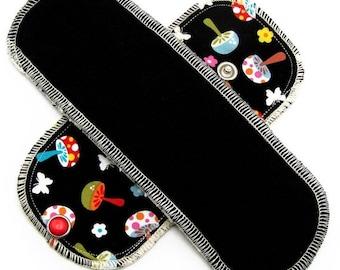 Organic Mini Pantyliner Moonpads Cotton Cloth Pads - Happy Mushrooms