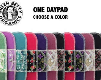 Organic Day Pad Moonpads Cloth Pads - Choose a Color Cotton Menstrual Pads