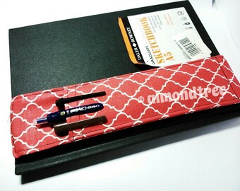 Red notebook pencil case, d30, journal pen holder, Moleskin accessory astuccio portapenne, sketch books journal id20160531 artist tools