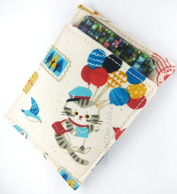 Cat post, postman chat mignons carte mince portefeuille, porte-cartes de visite, id20170206 portefeuille, poche avant, portefeuille