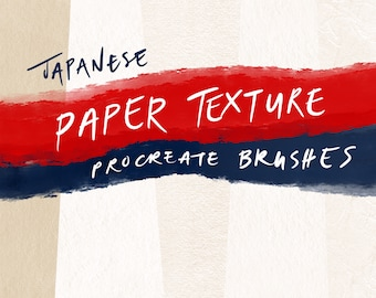 Japanese Paper Texture Seamless Procreate Brushes