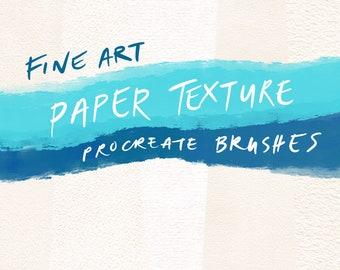 Fine Art Paper Texture Seamless Procreate Brushes