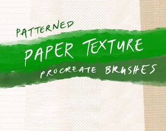 Patterned Paper Texture Seamless Procreate Brushes