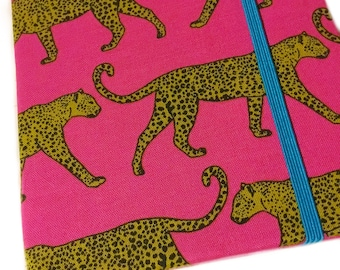 Kindle Paperwhite cover - Lovely Leopards - case for kindle new Paperwhite - handmade - big cats on hot pink jaguars boho exotic safari